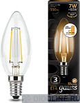Светодиодная лампа Gauss LED Filament Candle E14 7W dimmable