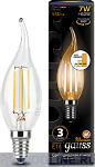 Светодиодная лампа Gauss LED Filament Candle tailed E14 7W dimmable
