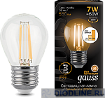 Светодиодная лампа Gauss LED Filament Globe E27 7W dimmable